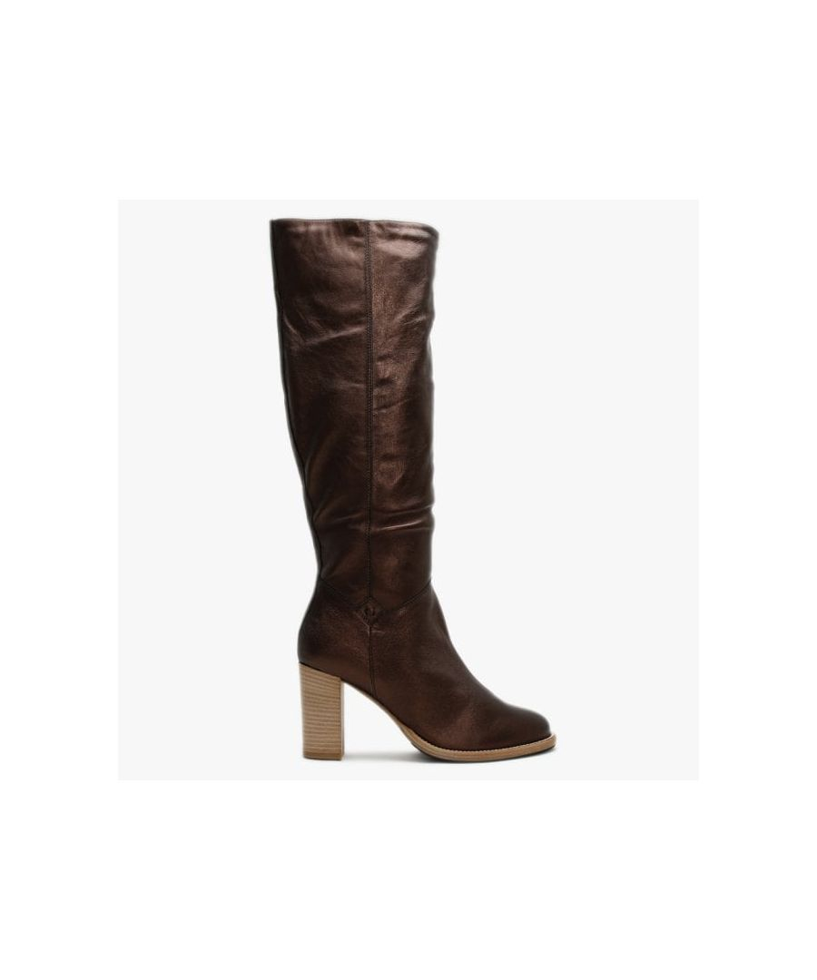 Image for Lamica Metallic Leather Knee High Boots