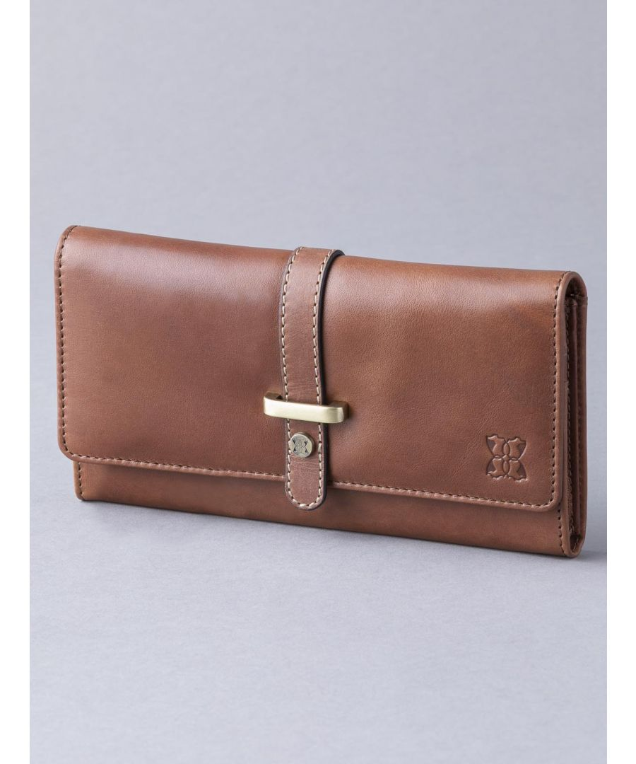 Image for Butterwick Leather Flapover Purse in Chestnut