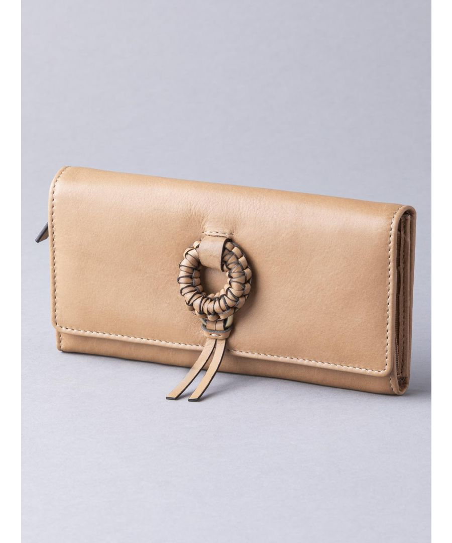 Image for Lindale Leather Flapover Purse in Tan