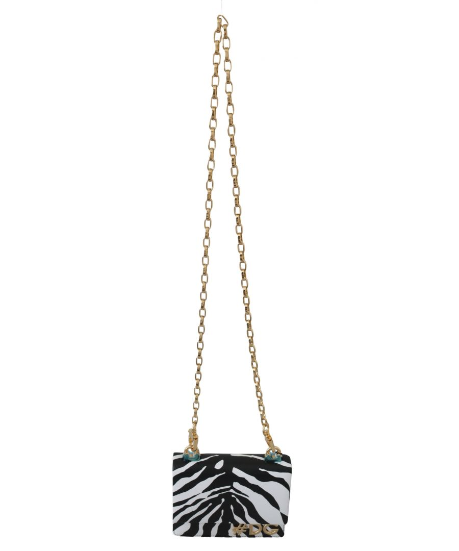 Image for Dolce & Gabbana Leather GIRLS Black White Zebra Shoulder Cross Bag