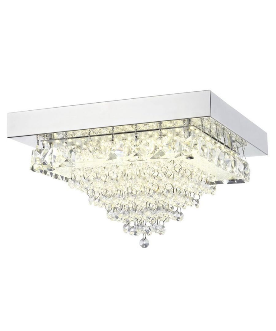 Image for Auden LED Small Square Semi-Flush Ceiling Light