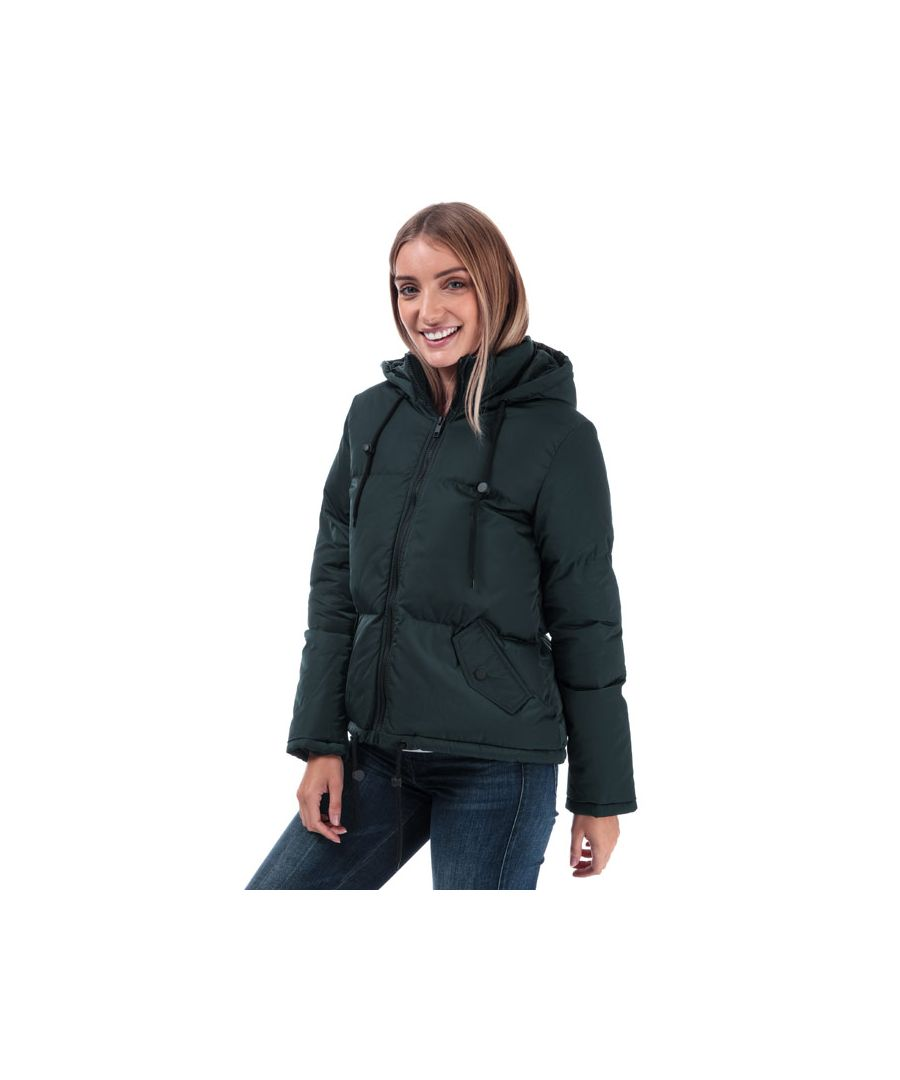 Image for Women's Brave Soul Cello Padded Hooded Jacket in Teal
