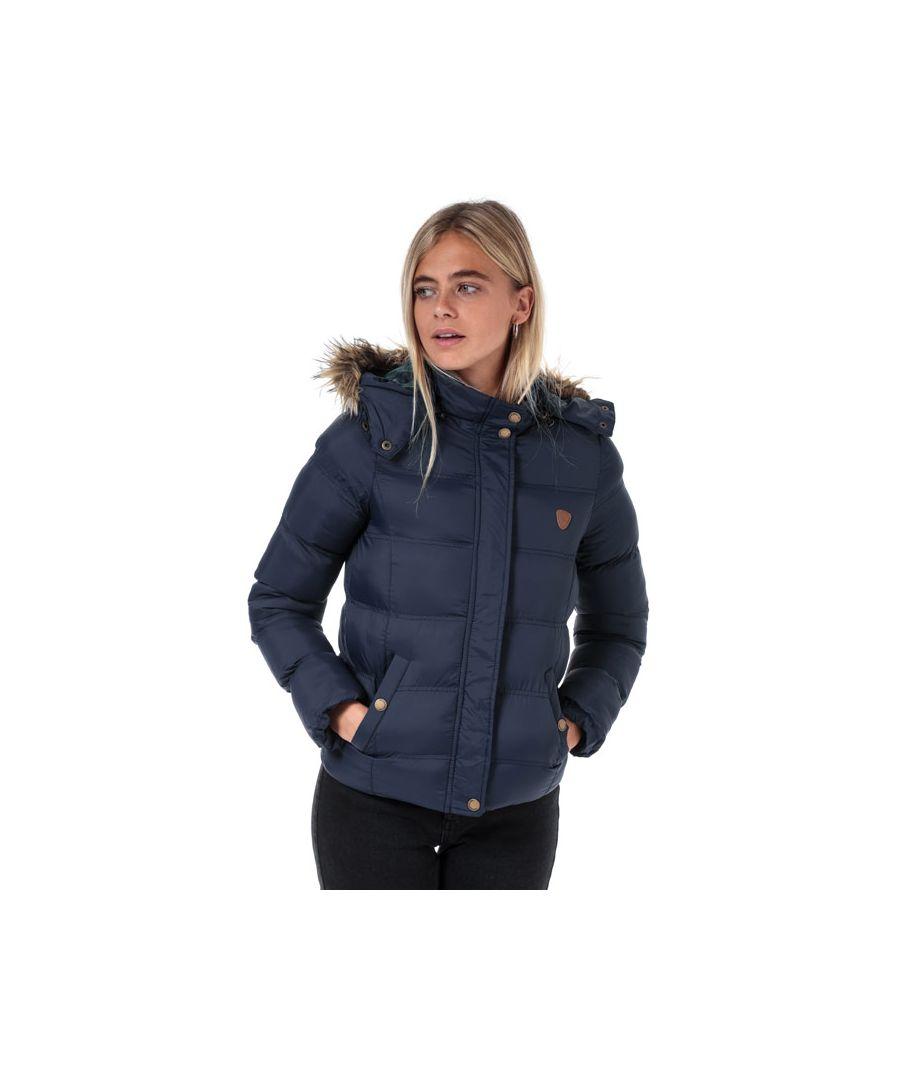 Image for Women's Brave Soul Hopp Padded Jacket in Navy