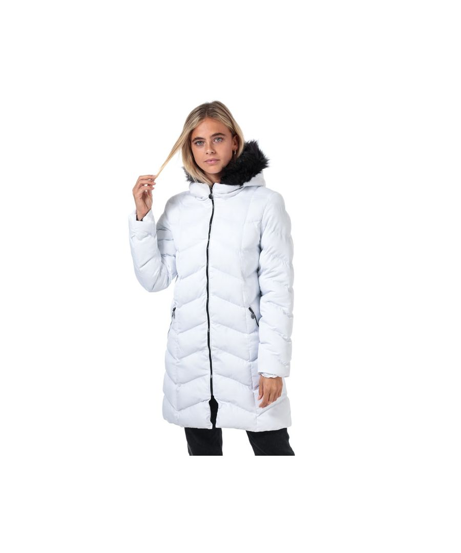 Image for Women's Brave Soul Kylie Padded Parka in White