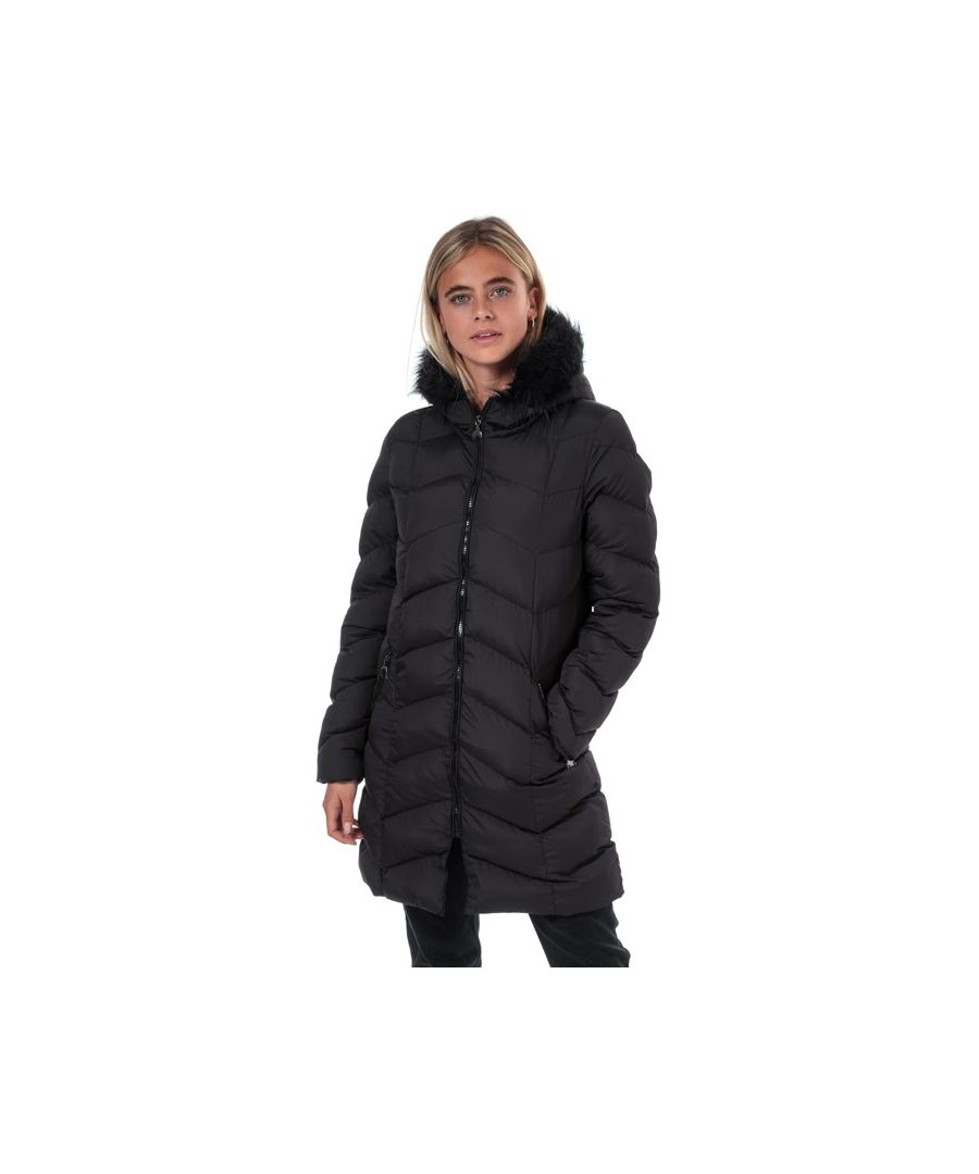 Image for Women's Brave Soul Kylie Padded Parka Jacket in Black