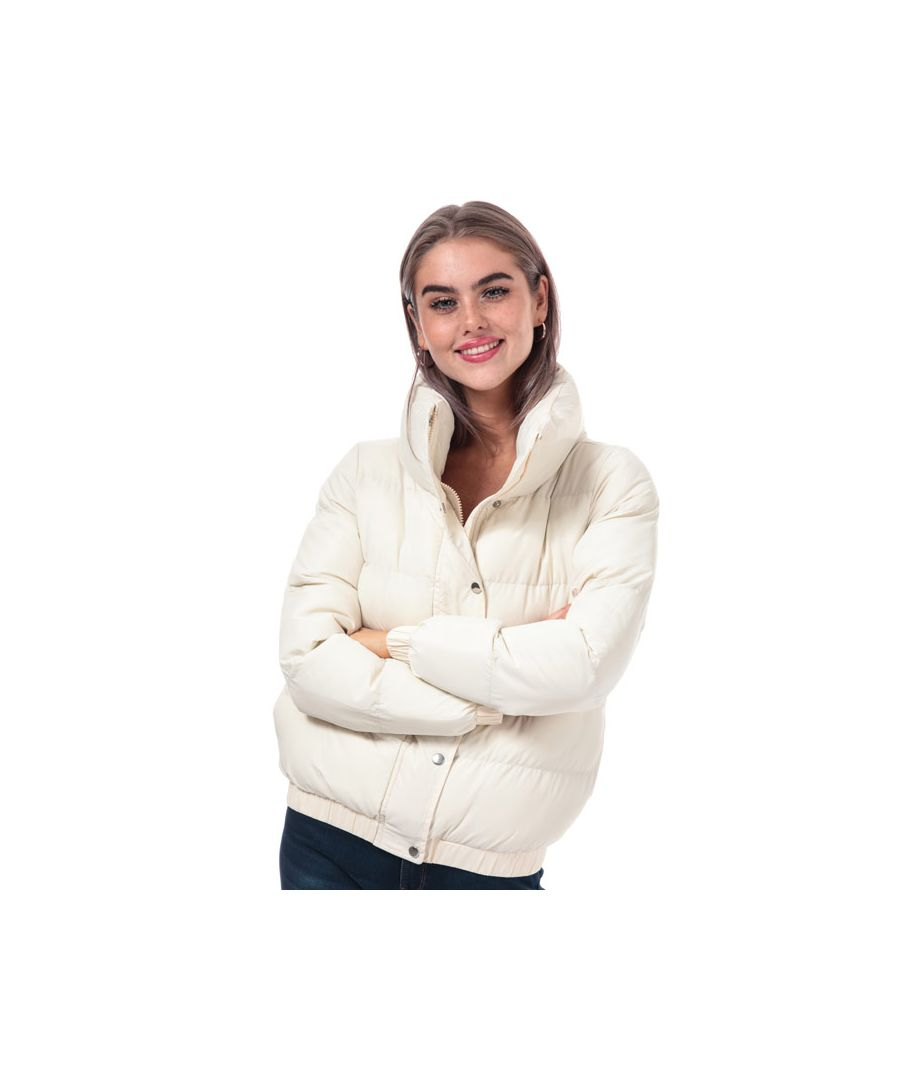 Image for Women's Brave Soul Slay Padded Funnel Neck Jacket in Off White