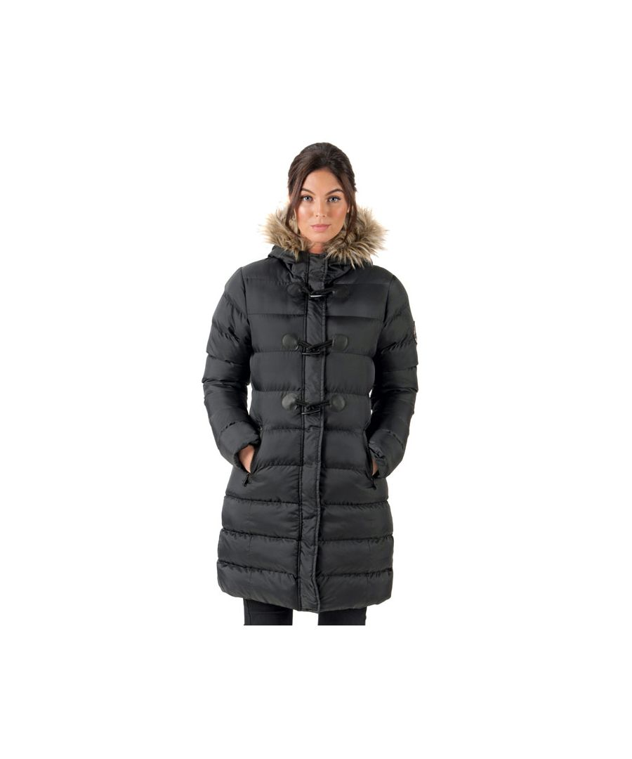 Image for Women's Brave Soul Wizard Long Padded Parka in Black