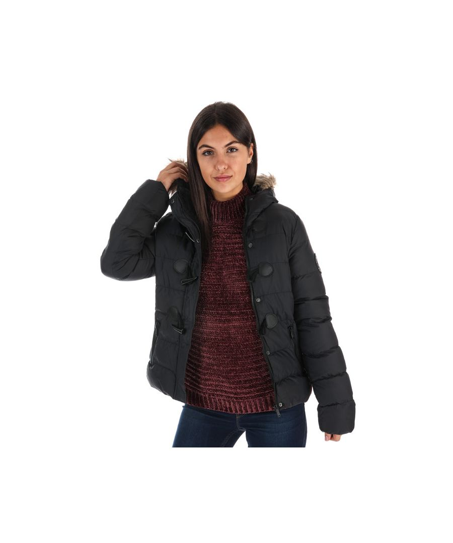 Image for Women's Brave Soul Wizard Padded Parka Jacket in Black