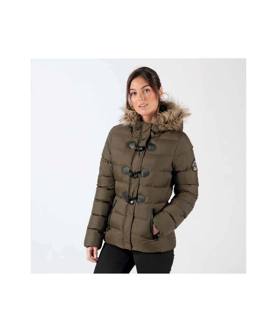 Image for Women's Brave Soul Wizard Padded Parka Jacket in Khaki