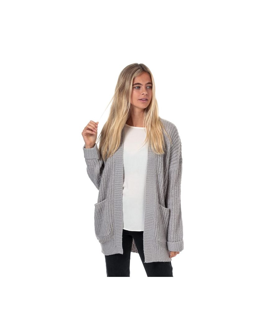 Image for Women's Brave Soul Open Cardigan Grey 10in Grey