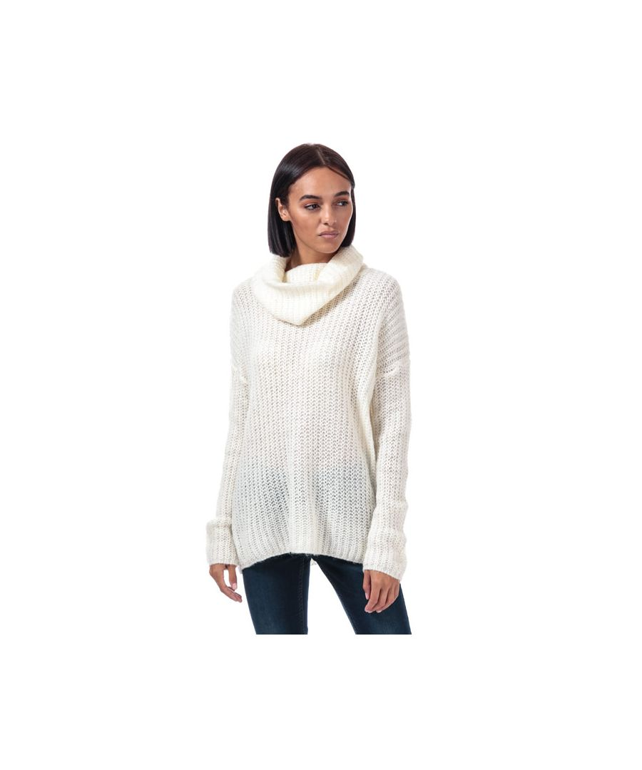 Image for Women's Brave Soul Oversize Cowl Neck Jumper in Oatmeal