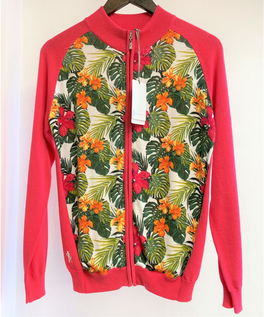 Image for Pink Zip Cardigan With Daiquiri Pattern