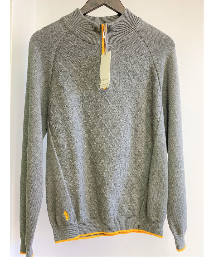 Image for Grey Half Zip Jumper