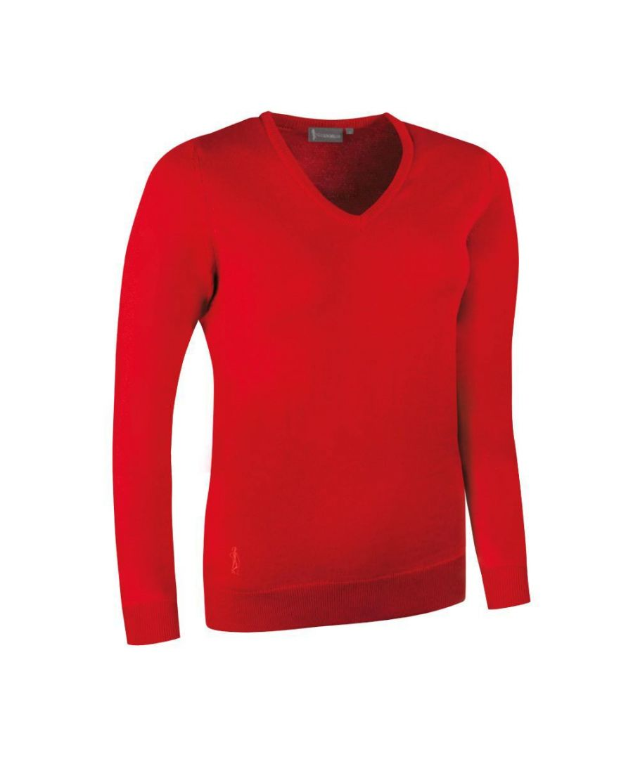 Image for Red V Neck Jumper