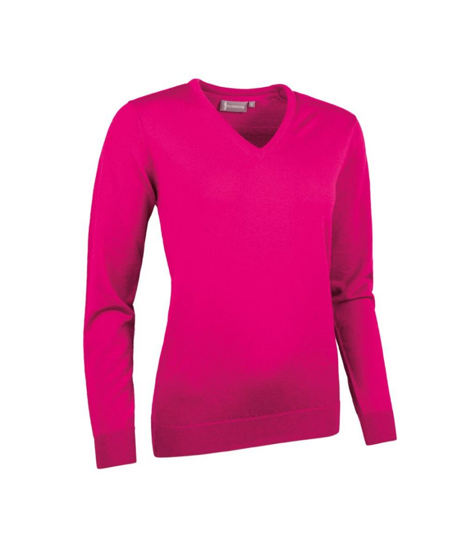 Image for Hot Pink V Neck Jumper