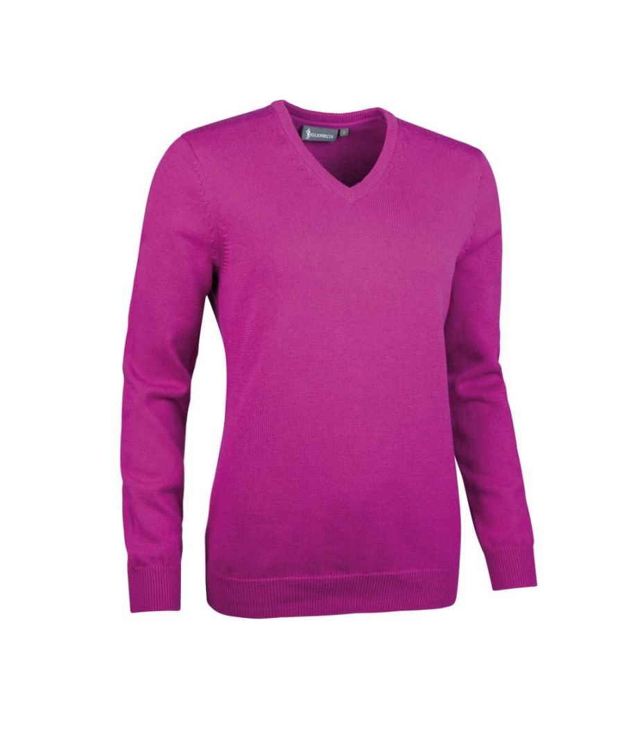 Image for Purple V Neck Jumper