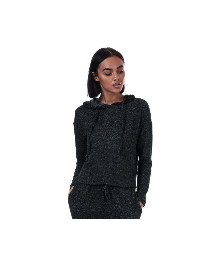 Image for Women's Brave Soul Brushed Lounge Hoody in Charcoal