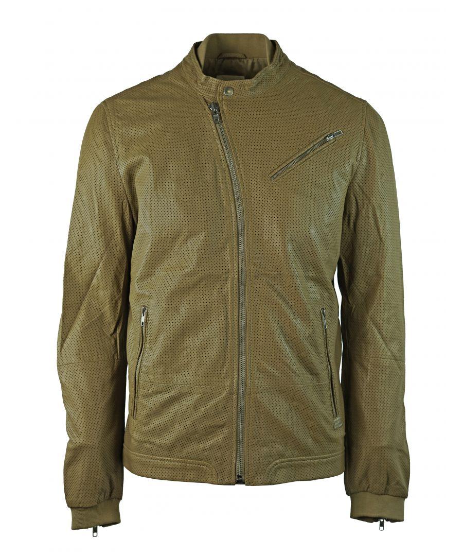 Image for Diesel Lohar-R 7BH Leather Jacket