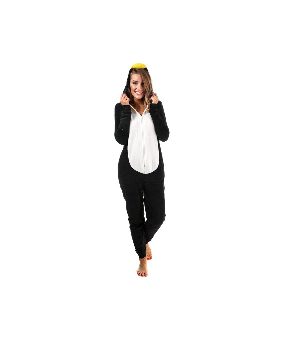 Image for Women's Brave Soul Penguin Onesie Black-White 10in Black-White