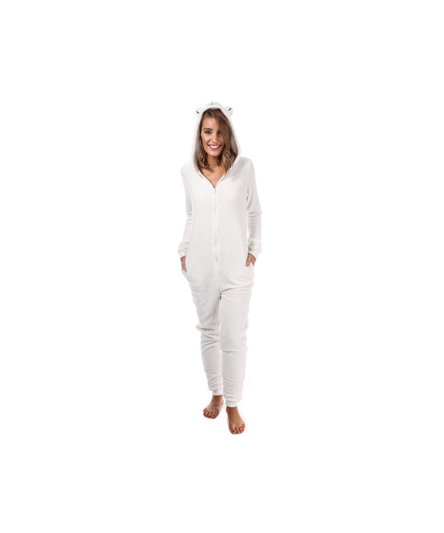 Image for Women's Brave Soul Polar Bear Onesie White 10in White