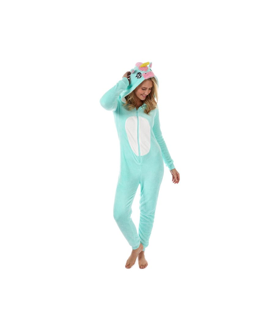Image for Women's Brave Soul Unicorn Onesie in Mint