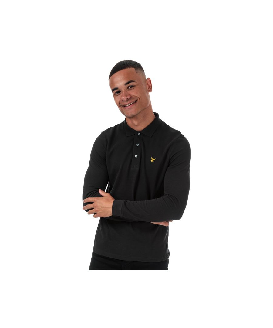 Image for Men's Lyle And Scott Long Sleeve Polo Shirt in Black