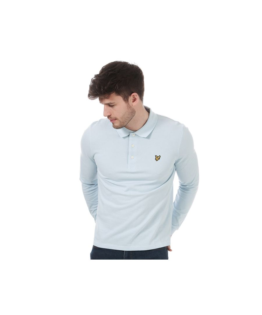 Image for Men's Lyle And Scott Long Sleeve Polo Shirt in Blue