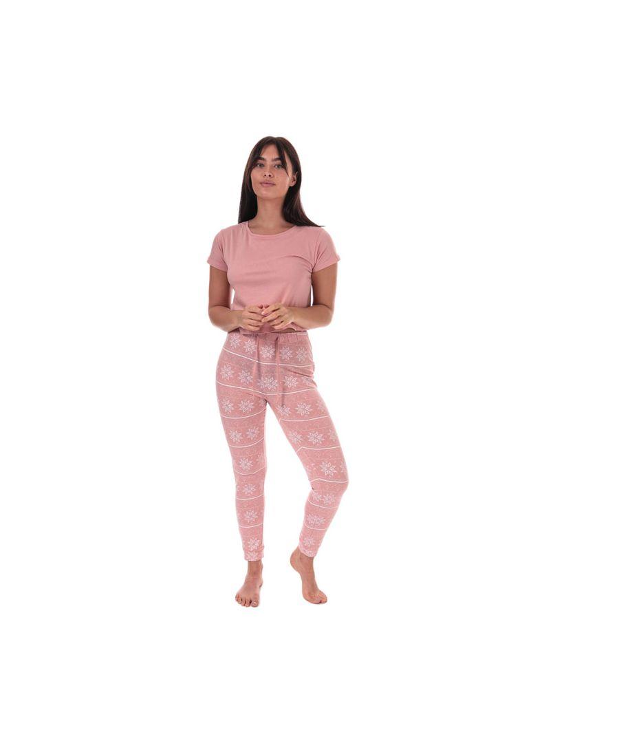 Image for Women's Brave Soul Fairisle Pyjama Set in Pink