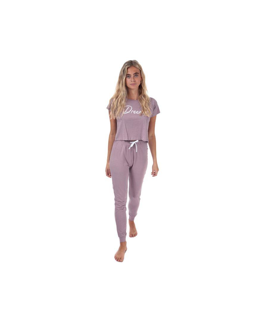 Image for Women's Brave Soul Dreamer Pyjama Set Mauve 10in Mauve