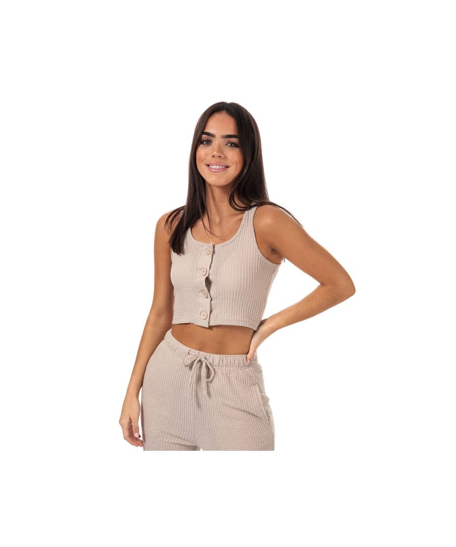 Image for Women's Brave Soul Waffle Lounge Set in Natural