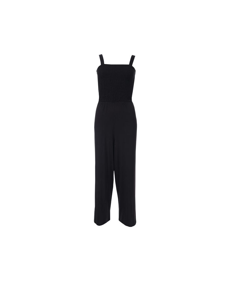Image for Women's Brave Soul Ruched Jumpsuit in Black