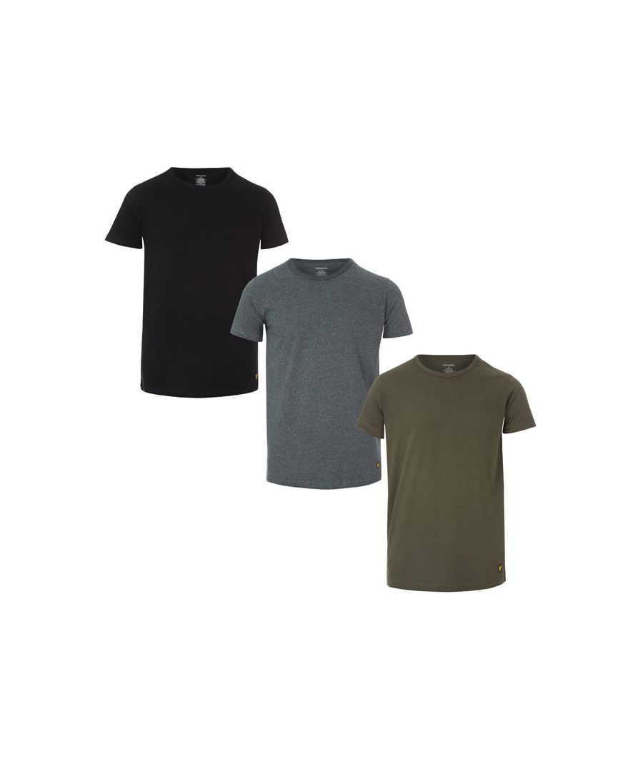 Image for Men's Lyle And Scott Maxwell 3 Pack T-Shirts in Green black