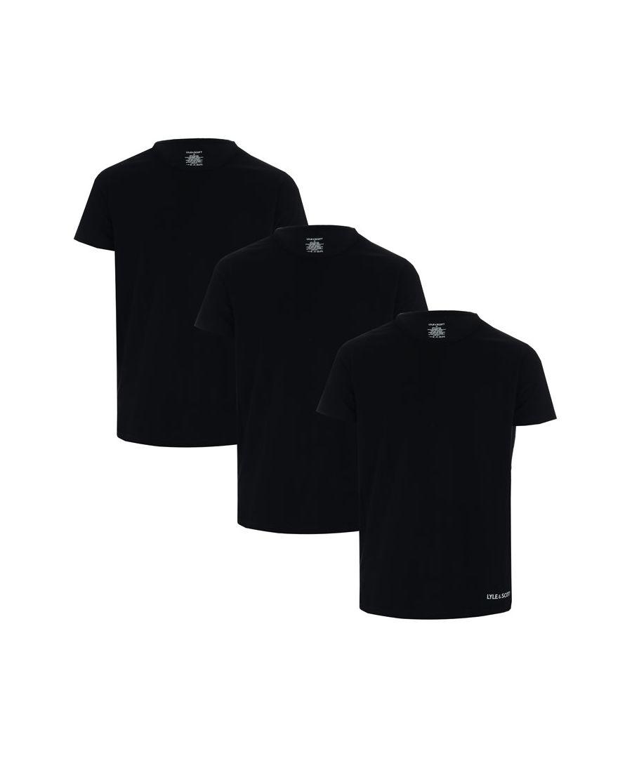 Image for Men's Lyle And Scott Elijah 3 Pack T-Shirts in Black