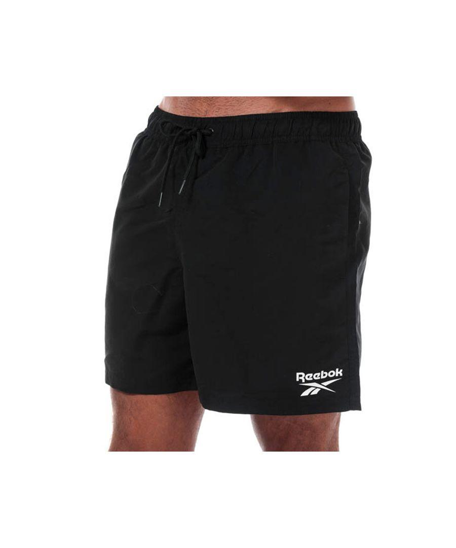 Image for Men's Reebok Logo Swim Short in Black