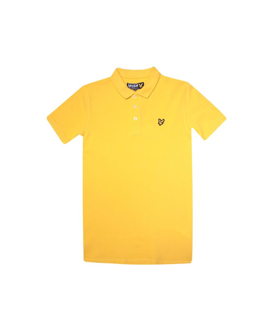 Image for Boy's Lyle And Scott Junior Classic Polo Shirt in Yellow