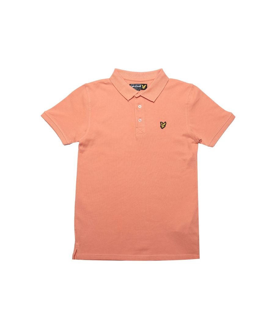 Image for Boy's Lyle And Scott Junior Classic Polo Shirt in Coral