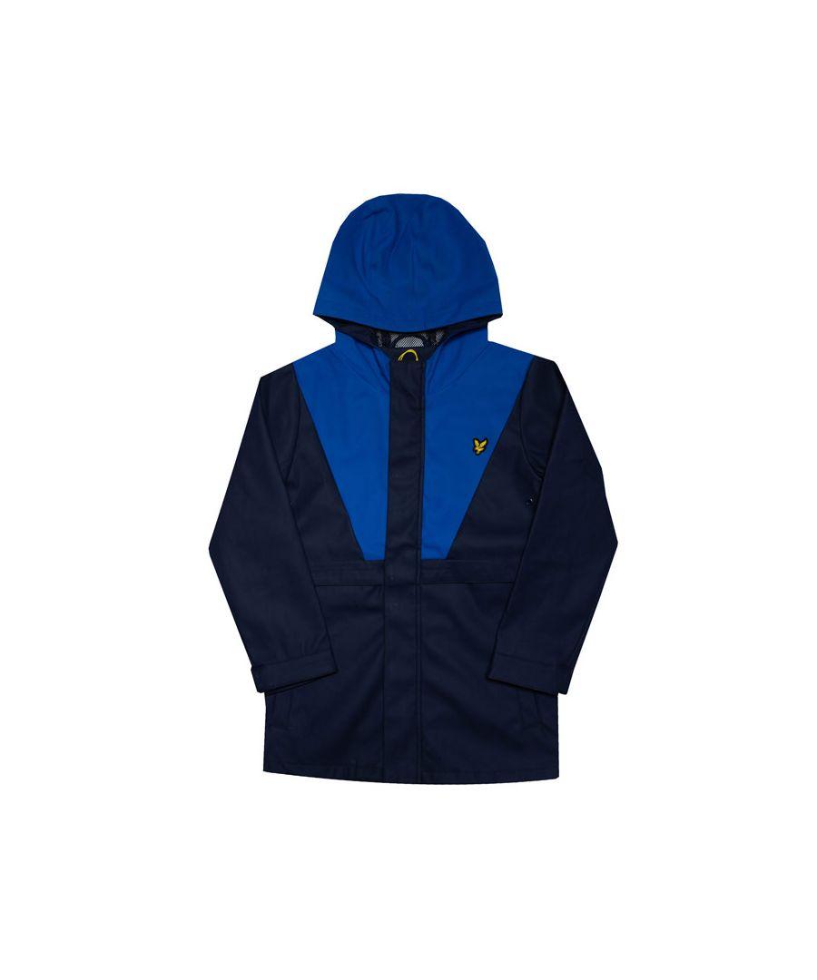 Image for Boy's Lyle And Scott Junior Zip Through Showerproof Jacket in Navy