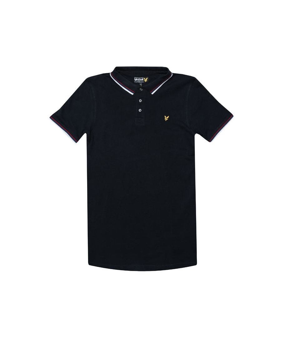 Image for Boy's Lyle And Scott Junior Plain Tipped Polo Shirt in Navy