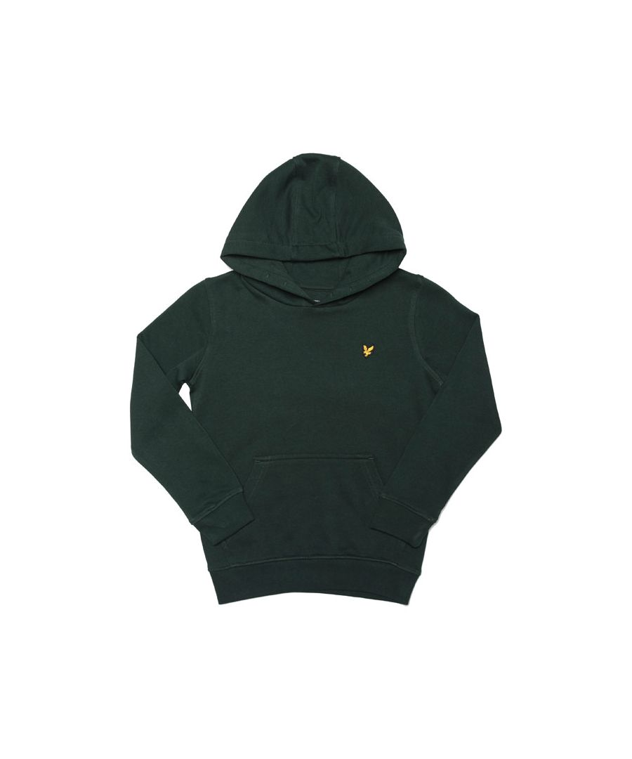 Image for Boy's Lyle And Scott Junior Classic Logo Hoody in Green