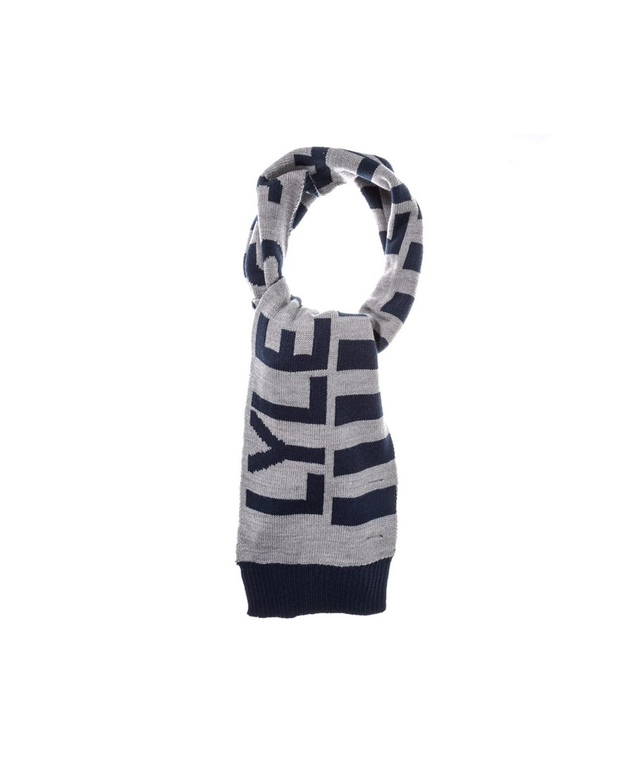 Image for Accessories Lyle And Scott Neutral Stripe Scarf in Grey