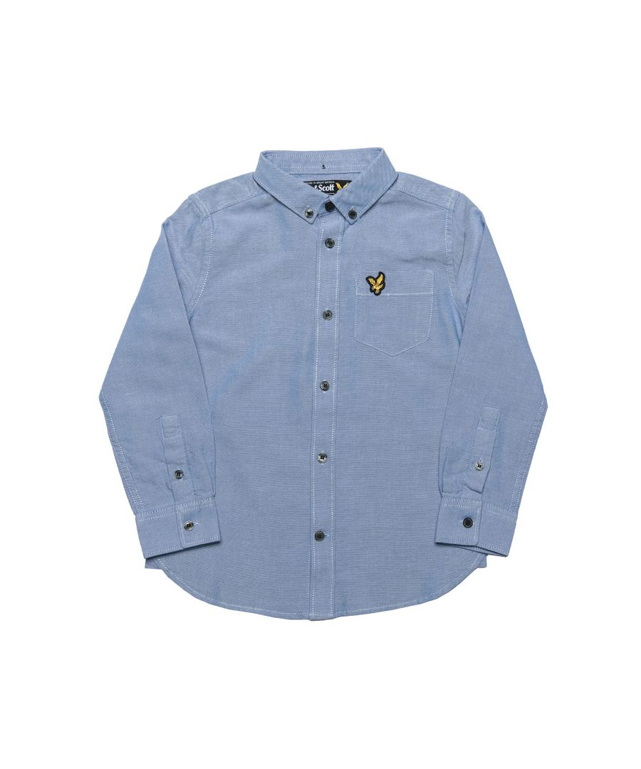 Image for Boy's Lyle And Scott Junior Oxford Shirt in sky