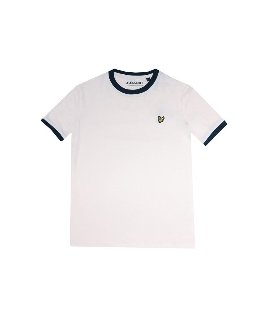 Image for Boy's Lyle And Scott Junior Ringer T-Shirt in White