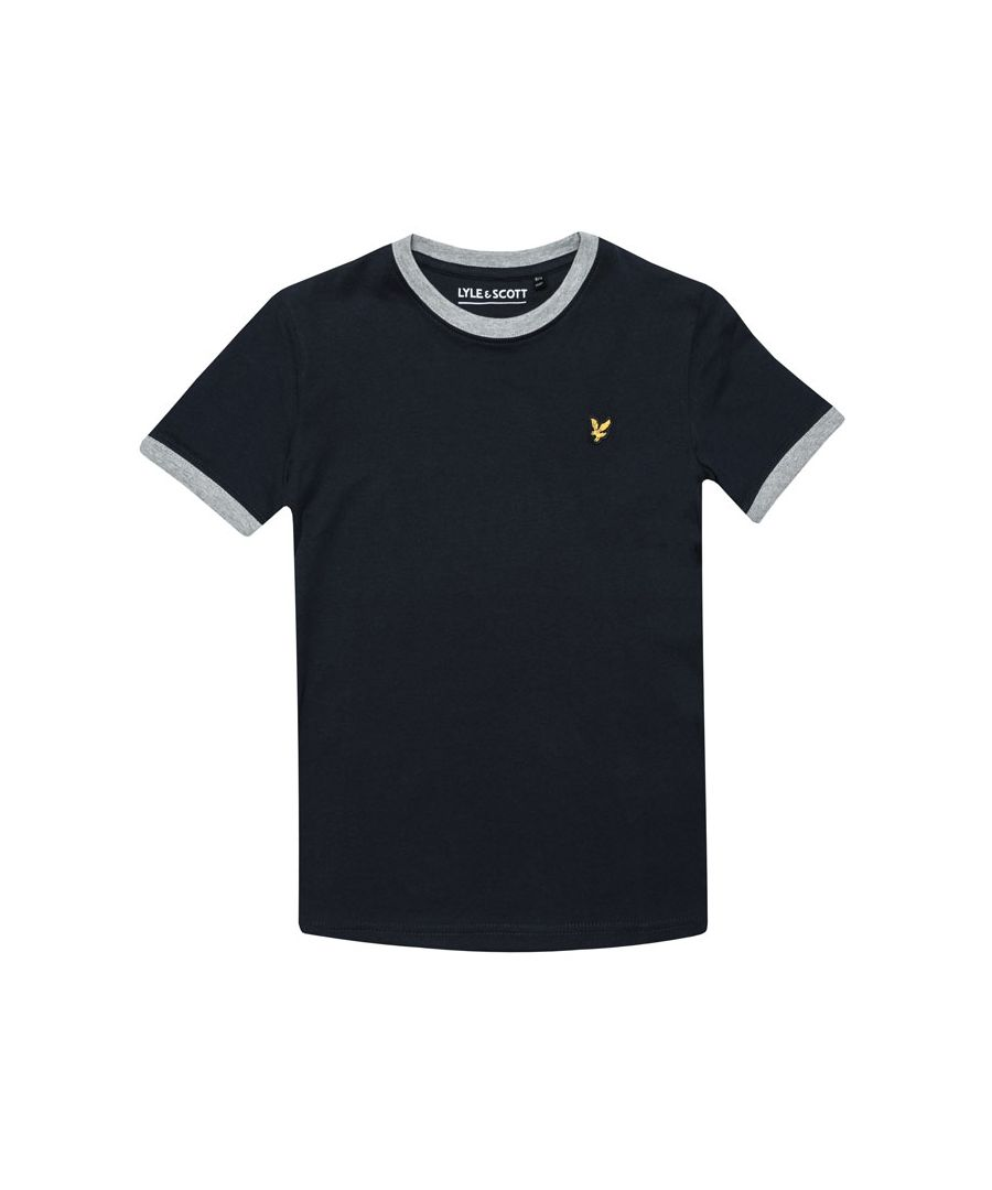 Image for Boy's Lyle And Scott Junior Ringer T-Shirt in Navy