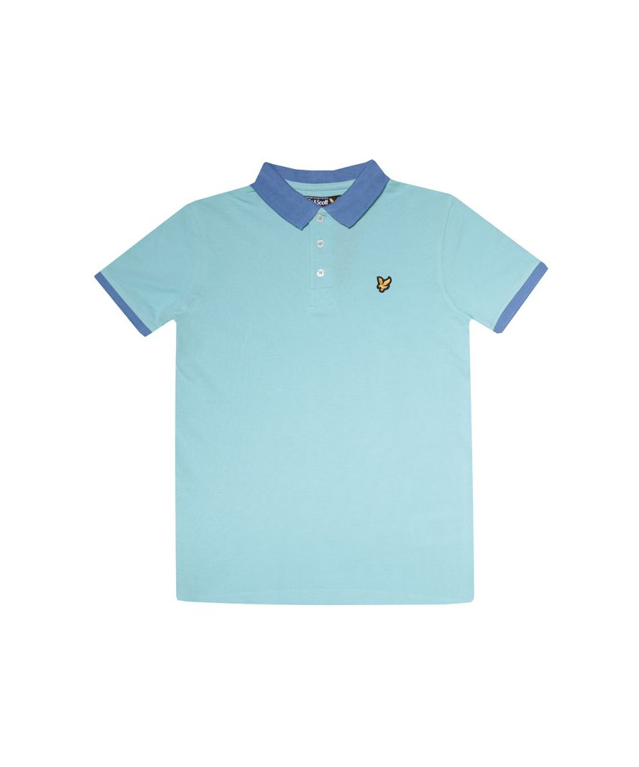Image for Boy's Lyle And Scott Junior Ringer Polo Shirt in aqua