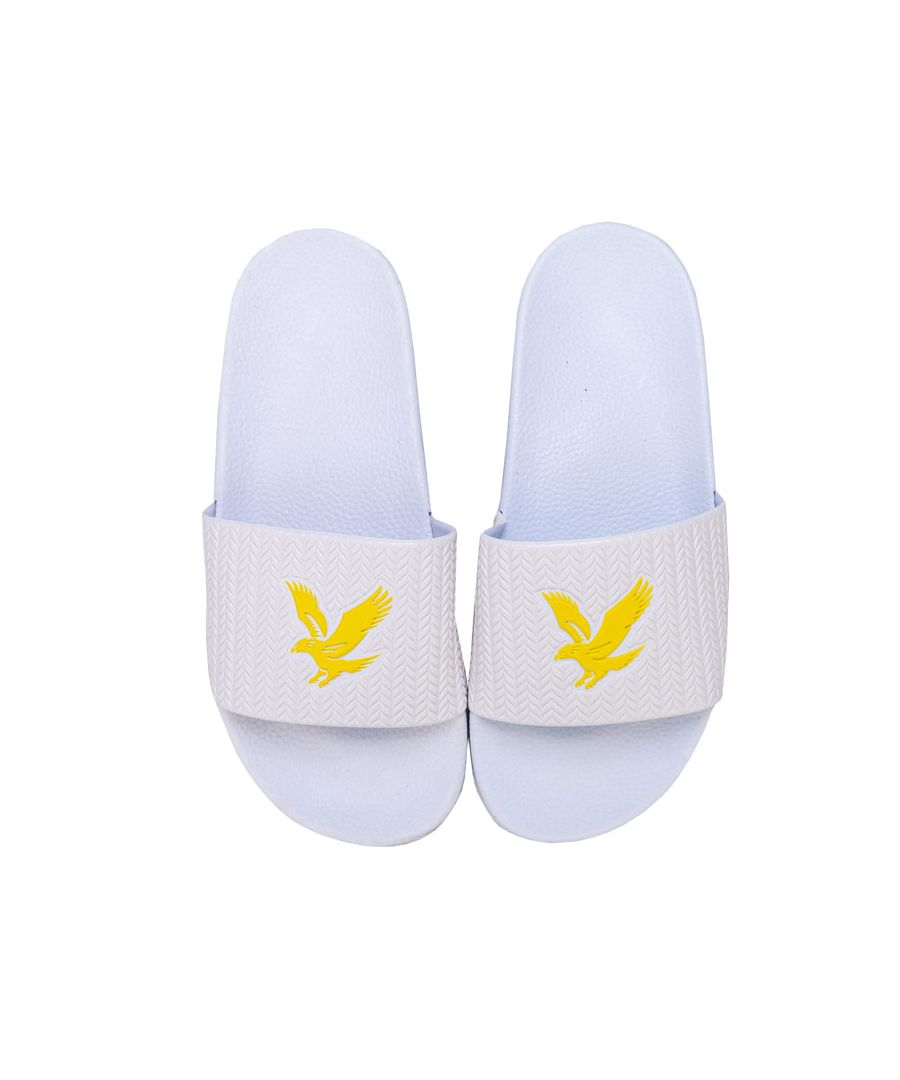 Image for Boy's Lyle And Scott Junior Eagle Sliders in White