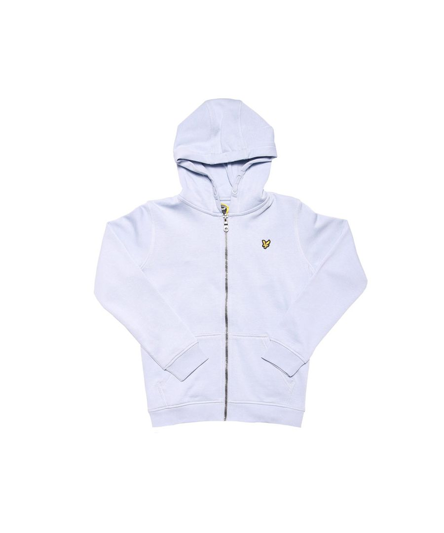 Image for Boys' Lyle And Scott Junior Classic Zip Hoodie in Light Blue