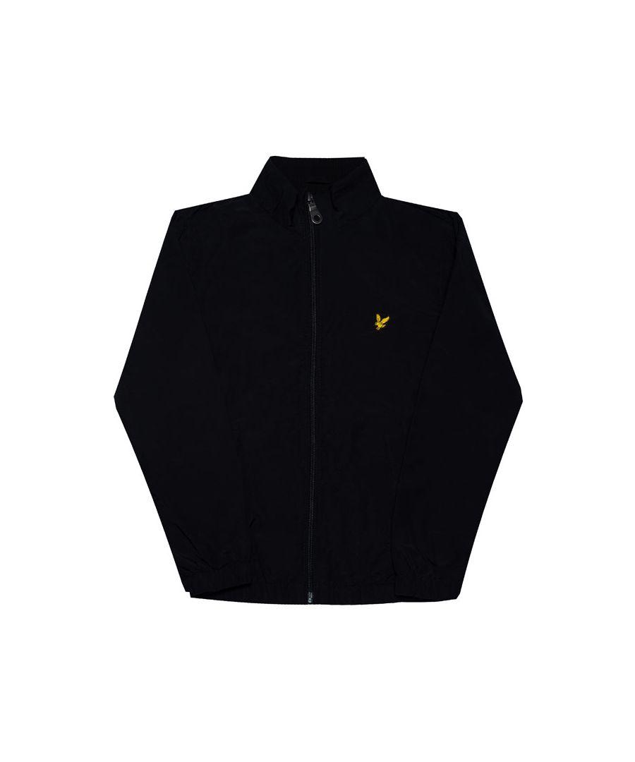 Image for Boy's Lyle And Scott Junior Funnel Neck Jacket in Black