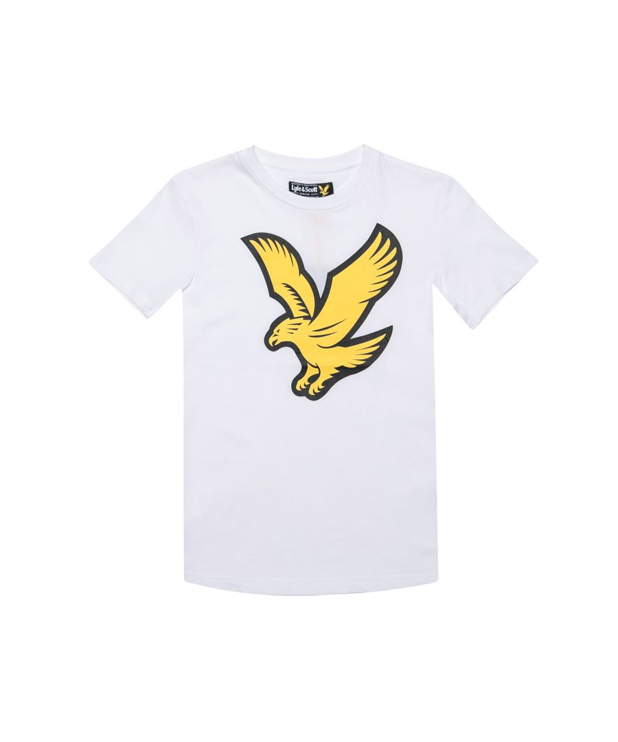 Image for Boy's Lyle And Scott Junior Eagle Logo T-Shirt in White