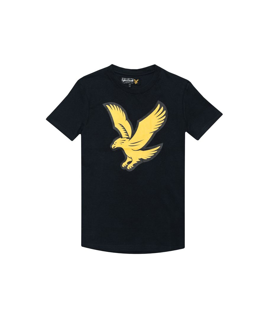 Image for Boy's Lyle And Scott Junior Eagle Logo T-Shirt in Navy