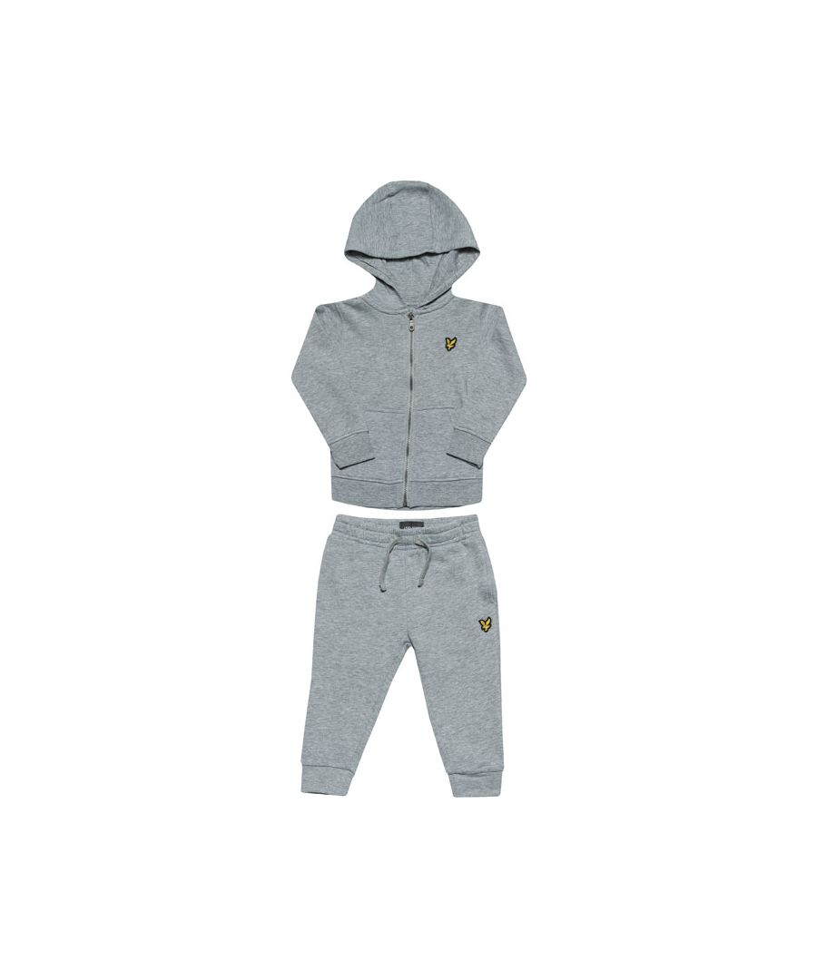 Image for Boy's Lyle And Scott Baby Hood & Jog Set in Grey Heather